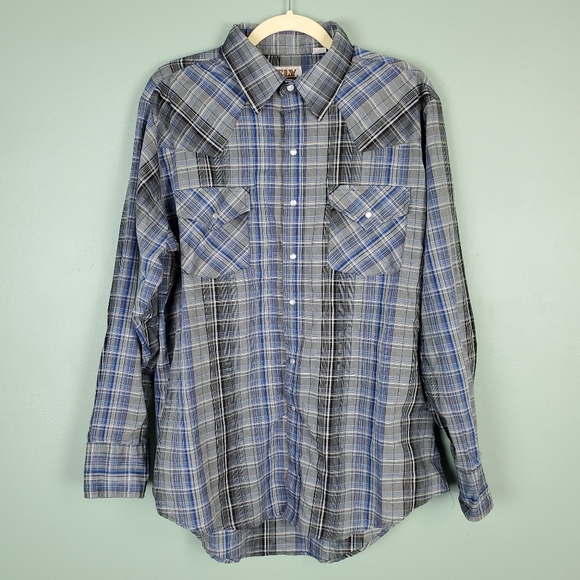 Ely Cattleman Shirts | Plaid Pearl Snap